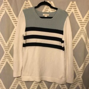 NWT Christopher & Banks Striped Sweater
